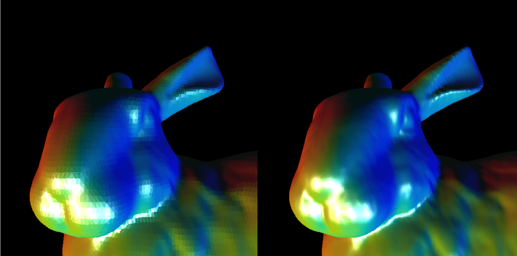 Effect of Loop Subdivision on voxelized mesh